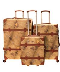 Cestovní kufry set 3ks Dielle S,M,L 1950-44 hnědá