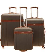 Cestovní kufry set 3ks Dielle S,M,L 220-23 antracitová