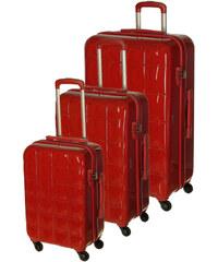 Cestovní kufry set 3ks March S,M,L 3100-02 červená