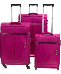Cestovní kufry set 3ks March S,M,L 2000-11 fuchsiová