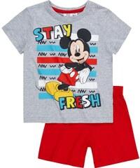 Disney Mickey Shorty-Pyjama grau in Größe 98 für Jungen aus 100% Baumwolle Graumelange: 60% Baumwolle 40% Polyester