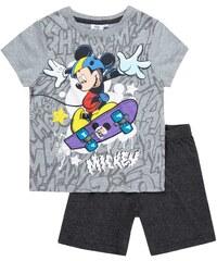 Disney Mickey Shorty-Pyjama grau in Größe 98 für Jungen