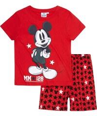 Disney Mickey Shorty-Pyjama rot in Größe 98 für Jungen aus 100% Baumwolle