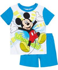 Disney Mickey Shorty-Pyjama blau in Größe 98 für Jungen aus 100% Baumwolle