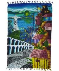 Bali Blue Pareo Brésilien - Canga Favelas