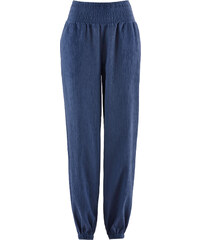 bpc bonprix collection Crinkel-Harems-Hose in blau für Damen von bonprix