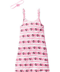 bpc bonprix collection Sommerkleid mit verzierten Trägern + Haarband (2-tlg.), Gr. 116/122-164/170 ohne Ärmel in lila für Mädchen von bonprix