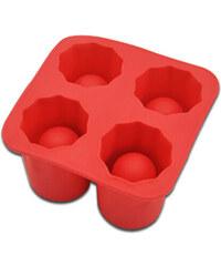Lesara 3er-Set Eiswürfelform Schnapsglas - Rot