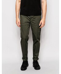 Pull&Bear - Pantalon chino cargo coupe slim - Kaki - Vert