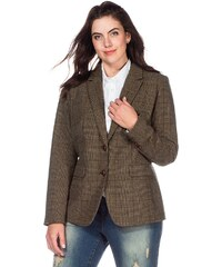 sheego Casual Tweed-Blazer mit Ellbogen-Patches
