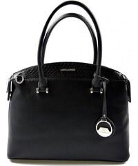 Elegantní kufříková černá kabelka do ruky Anesi David Jones 9798