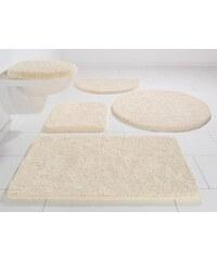 Badematte Hänge WC-Set Chaozhou Höhe 20 mm Mikrofaser rutschhemmender Rücken KINZLER natur 10 (2 -tlg. Hänge-WC-Set cm)