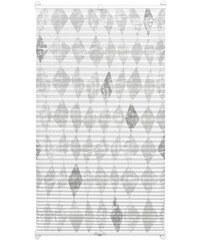 Gardinia Plissee Easyfix Swedish Moments Circus Faltenstore Lichtschutz Fixmaß ohne Bohren grau 1 (H/B: 130/50 cm),2 (H/B: 130/60 cm),3 (H/B: 130/70 cm),4 (H/B: 130/80 cm),5 (H/B: 130/90 cm)