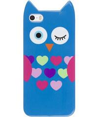 Lesara Schutzhülle für Apple iPhone 5/5s mit Tier-Motiv - Mehrfarbig - Eule