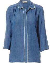 Purple's Bluse - jeansblau