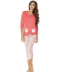 Dámské pyžamo Luna 697-2, korálová