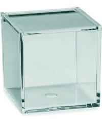 Kosmetická dóza SAFIRA plast, transparent, 8x8x8cm KELA KL-22018