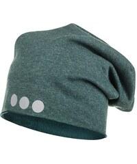 Lamama Dětská čepice s reflexním potiskem - šedomodrá
