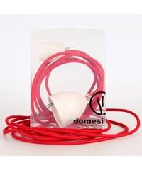 DOMESI Textilní kabel s objímkou - 3 m (červená)