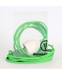 DOMESI Textilní kabel s objímkou - 3 m (zelená)