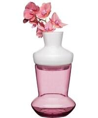 Sagaform Váza dvojdílná DUO, růžová/bílá