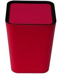 Quali Odpadkový koš Mini Square Flip Bin, malý, červený