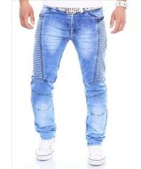 KC-1981 kalhoty pánské 3128 jeans džíny prošívané