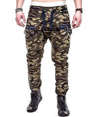 Lesara Jogger-Pants mit Camouflage-Muster - S
