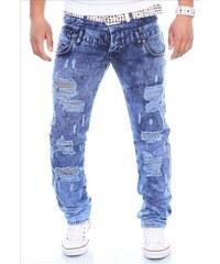 KC-1981 kalhoty pánské 167 jeans prodřené díry džíny 1f148ff019