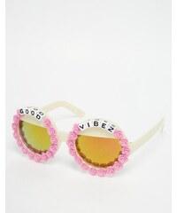 Rad Refined - Lunettes de soleil rondes avec verres miroir - Rose