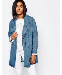 Vila - Veste en jean oversize - Bleu
