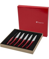 Guy Degrenne Quartz - Coffret 6 couteaux à steak - rouge