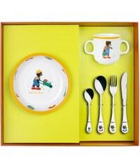 Guy Degrenne Petit ours brun - Coffret vaisselle et couvert - bicolore