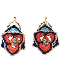 Objets Obscurs Bijoux Althea - Boucles d'oreilles en plaqué argent - corail