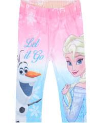 Disney Die Eiskönigin Caprihose rosa in Größe 104 für Mädchen aus 63% Polyester 33% Baumwolle 4% Elasthan