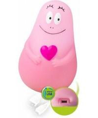 Pabobo Svítíci kamarád Lumilove Barbapapa micro USB pink