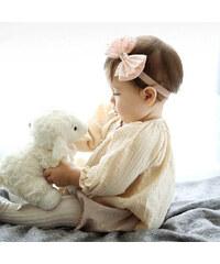 Čelenka pro miminka s mašlí růžová C55777