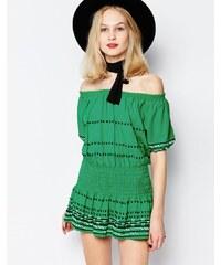 Piper - Butuan - Robe courte épaules dénudées - Vert - Vert