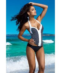 Lorin Černo-bílé vyztužené plavky Laura