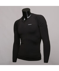 Peak-X Langärmliges Sport-Shirt mit V-Ausschnitt - Schwarz - S