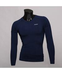 Peak-X Langärmliges Sport-Shirt mit V-Ausschnitt - Dunkelblau - S