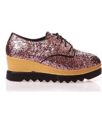 Catisa Schuhe mit Platform - fuchsienrosa