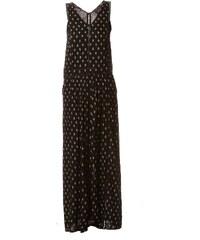 Idano Kleid mit fließendem Schnitt - schwarz