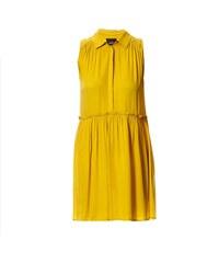 Idano Kleid mit fließendem Schnitt - gelb