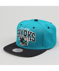 Mitchell & Ness Team Arch San Jose Sharks tyrkysová / černá / šedá