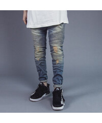 R.CLO Biker Denim Destroy blue cream