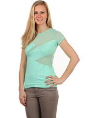 TopMode Neobyčejné dámské tričko zelená