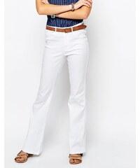 Only - Royal - Jean évasé rétro à taille haute - Blanc