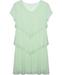 Lesara Lagen-Kleid mit halbtransparenten Ärmeln - Mint - S
