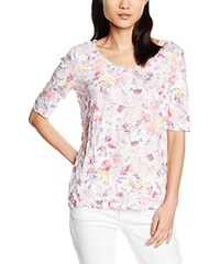 TOM TAILOR Damen T-Shirt T-shirt Flowerful Crinkle Shirt/603
